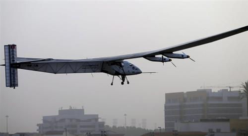 Solar powered plane takes off from Myanmar